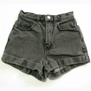 American Apparel high rise cuffed shorts